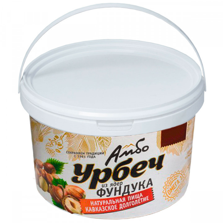 Урбеч Амбо из ядер фундука (лесной орех) 1 кг.
